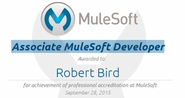 I am now an Associate MuleSoft Developer!